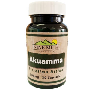 Nine Mile Botanicals Akuamma Seed powder 900mg 30 Capsules